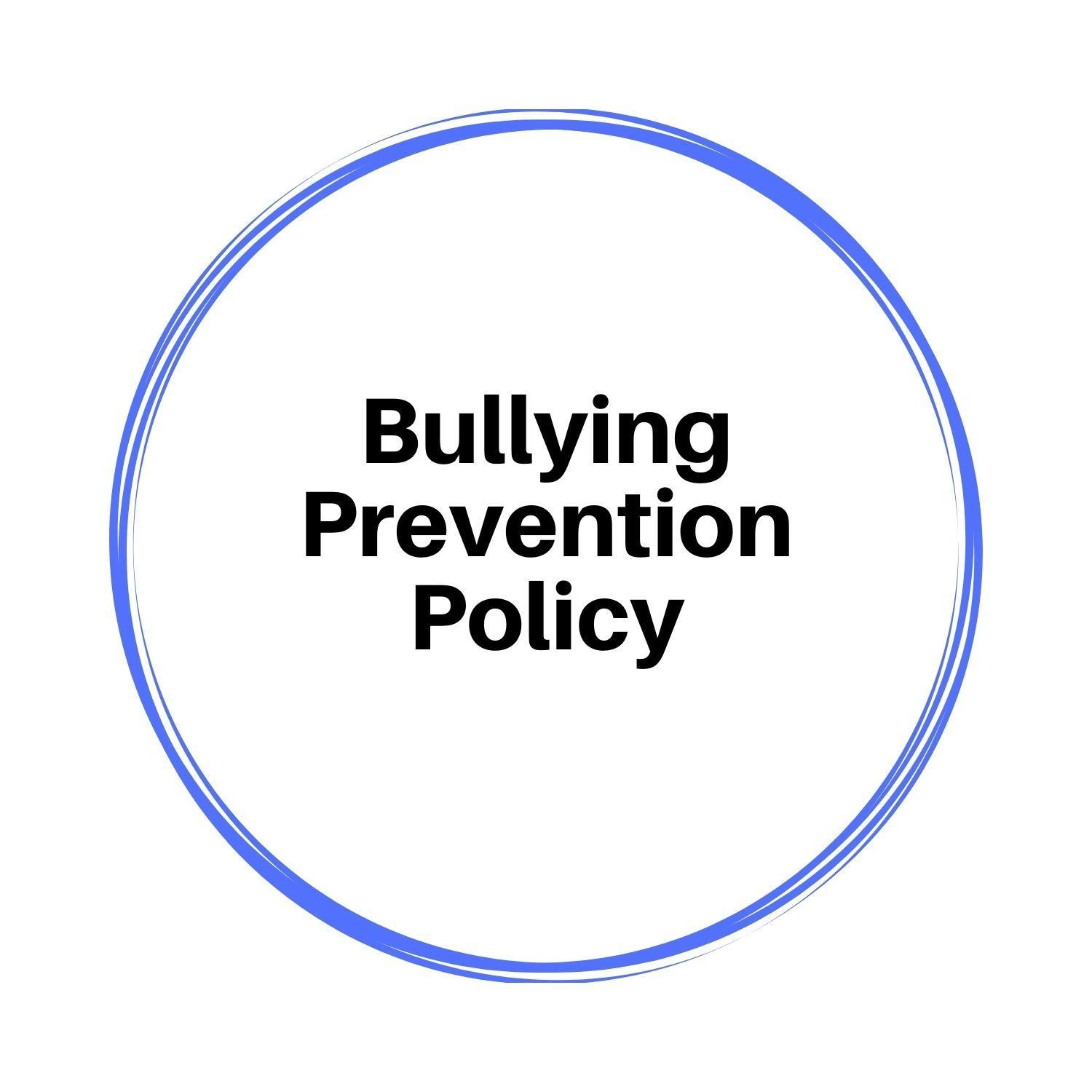 Bullying Prevention Policy