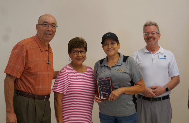Brenda Lopez with Board Members