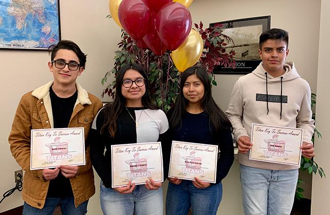 Key to Success Recipients Feb. 2019