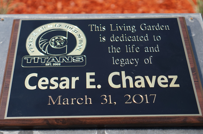Cesar E. Chavez High Memorial Garden