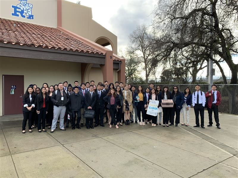 CCHS and DHS FBLA members at Redwood High School