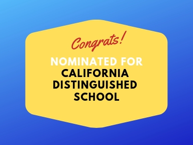 Nominated for CA Distinguished School