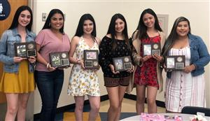 Senior Cheerleaders honored at annual banquet