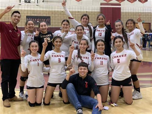 Varsity Volleyball SSL Champs 2018