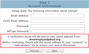 Step 2 Account Information